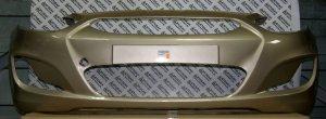 Передний бампер в цвет Solaris Stone Beige (UBS) - бежевый камень